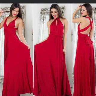 FOR RENT AND FOR SALE ✋ INFINITY DRESS (RED COLOR)