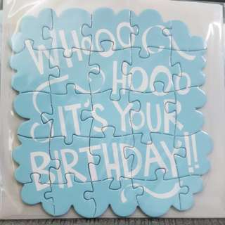 Puzzle Card (by typo): It's Your Birthday card