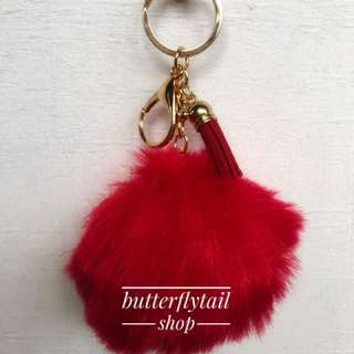 Red furball Keychain