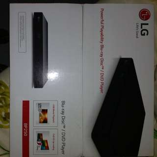 LG BP 250 BLUE RAY AND DVD PLAYER