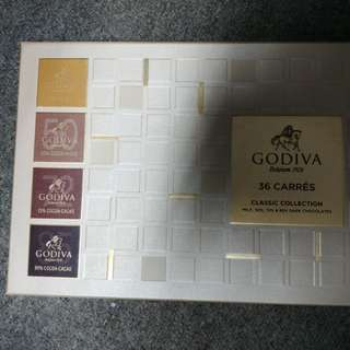 Godiva 36 carres Classic collection chocolate 朱古力禮盒