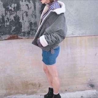 🚚 正韓 韓國 保暖燈芯絨羔羊毛大衣外套 #新春八折