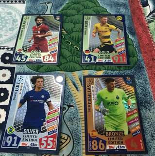 Match attax 2017-18 UCL LE