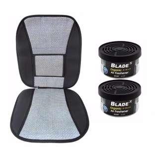 Blade 10E Seat Cushion (Gray/Black)  +  Blade Organic Air Freshener Musk