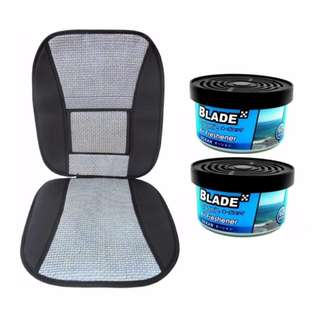 Blade 10E Seat Cushion (Gray/Black)  +  Blade Organic Air Freshener Ocean