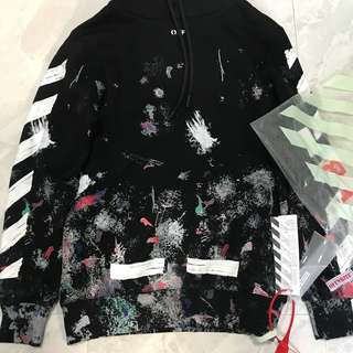 [Customer's Order] Off White Galaxy Graffiti Hoodie Size S