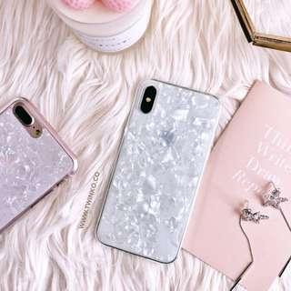 全新絕美奢華白色珍珠貝殼手機殼iphoneX