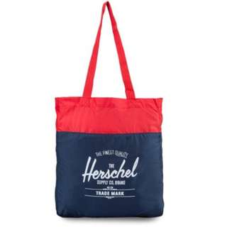 Herschel Packable Travel Tote (Navy/Red)