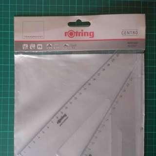專業設計繪圖 Rotting 三角尺  (特大尺碼套裝2把) Made in Germany (新年促銷包郵)