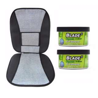 Blade 10E Seat Cushion (Gray/Black) +  Blade Organic Air Freshener Apple
