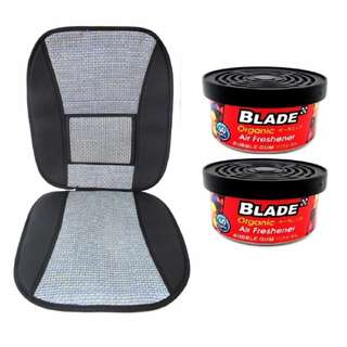 Blade 10E Seat Cushion (Gray/Black) +  Blade Organic Air Freshener Bubblegum