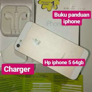 Barter Hp iphone 5 64gb original masih bergaransi free case