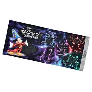 Japan Disneystore Disney Store Mickey Mouse Fantasia D23 Expo Face Towel
