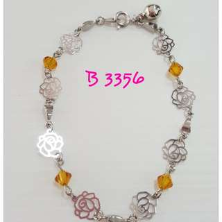 Swarovski Crystals 'rose' Bracelet.