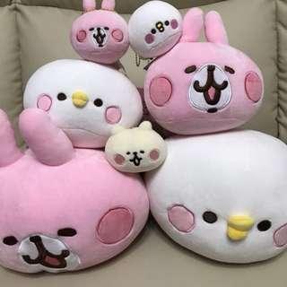 日本直送 Kanahei小動物 軟淋淋公仔 P助/兔兔/貓貓