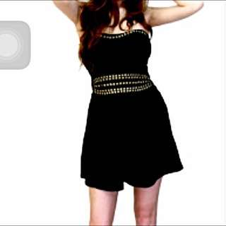 Brand New Studded Black Tube Dress (Rock Studs ) Asos Inspired