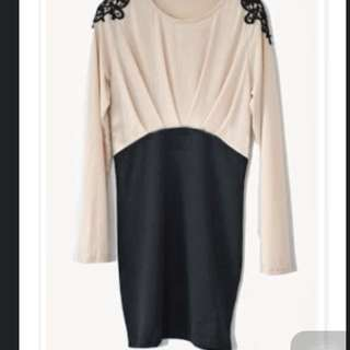Brand New Long Sleeve Stretchable Body Hugging OL Dress ( Dorothy Perkins Inspired)