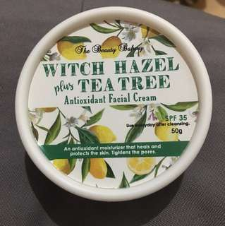 Witch Hazel plus Tea Tree Antioxidant Facial Cream