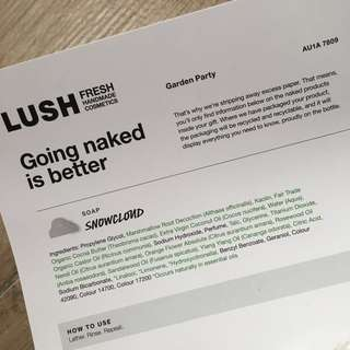 Lush Snowcloud soap