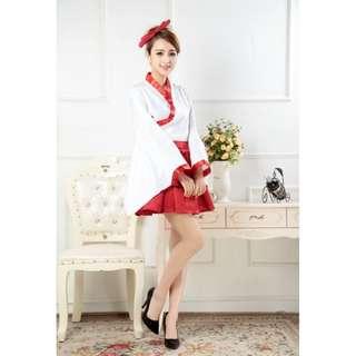 Japanese Red White Costume