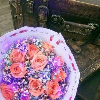 Valentine Day Flower Bouquet Flesh Sale