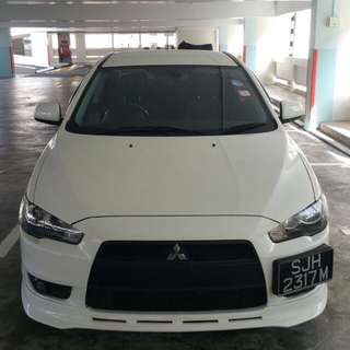 Car rental, Lancer ex for rental
