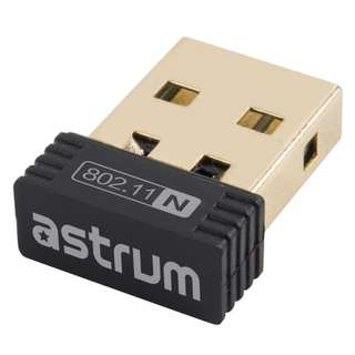 Astrum Nano Wifi USB Network Adapter for PC Laptop 2.4 GHz wireless 150Mbps NA150