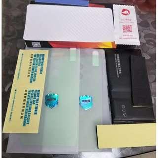 小米MIX2優質鋼化膜二張及炭纖維背貼一張+工具