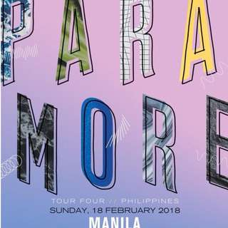 LOOKING FOR 2 PARAMORE in MANILA TICKETS