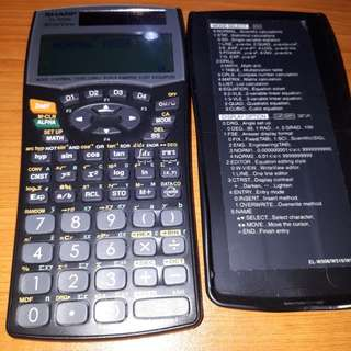 Sharp Scientific Calculator el-w506