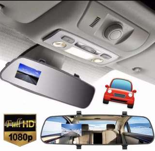 🚗Car Camera High Definition 1080P HD LCD Camera Dash Cam Video Recorder Rearview Mirror