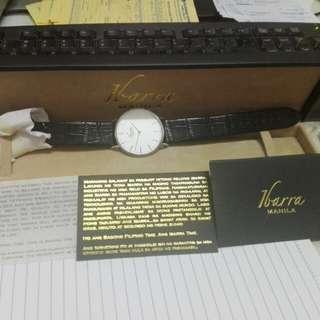 Ibarra manila rizal 40mm black leather watch