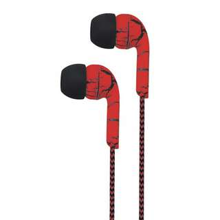 Astrum Earphone With Wire Mic & Control, 3.5mm EB200 Red