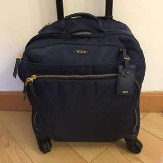 90% new TUMI: Navy Carry-on Suitcase with 4 Wheels