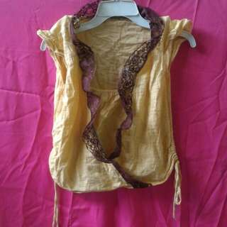 Mustard Colored Blouse