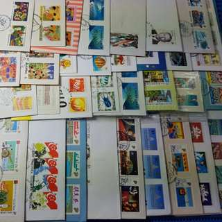 38X Singapore First Day Cover from 1980 to 1999 ( Lot of 38 different FDC )