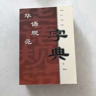 Chinese paperback dictionary