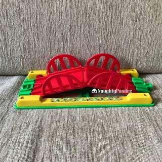NaughtyPandaz生活百貨 Takara Tomy 中古 Disney Dream Railway Mickey Mouse Colourful Rail Set 米奇 廸士尼 橋