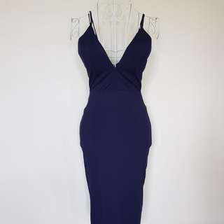 Fashion Passion Blue Fitted Dress