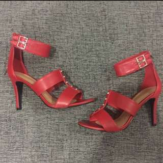 Charles & Keith Heels red studded