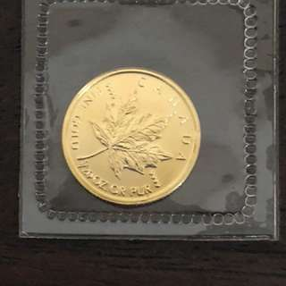 Fine Gold Coin 1/20oz Canadian Maple Leaf
