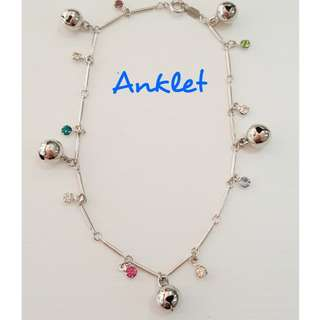 Assorted Colour Crystals Anklet.