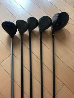 CALLAWAY and HONMA Golf Drivers