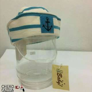 Baby sailor pirate hat cap topi budak dead stock