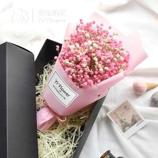 乾花花束禮盒裝💐滿天星
