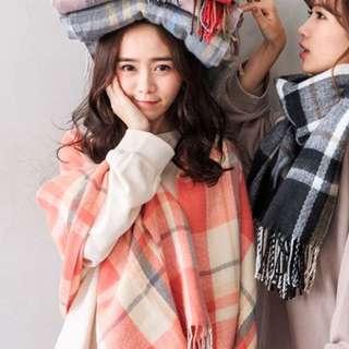 🚚 全新現貨 韓版仿羊絨圍巾