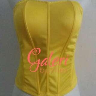 Bustier lowback warna kuning