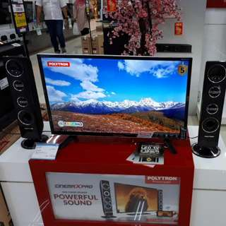 Led Tv Polytron 32 inch With Speaker Tower (Bisa KREDIT)