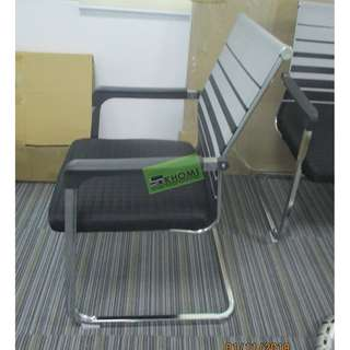 VC-B66 VISITORS CHAIRS SLED TYPE GRAY COLOR--KHOMI