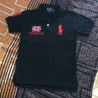 Ralph Lauren Black Polo Custom Fit Size 6